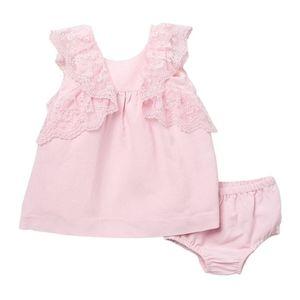 🆕 Miniclasix 🎠 Lacy Bow Dress & Bloomers Set